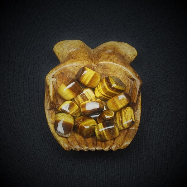 Golden Brown Tigers Eye Tumbled Stone - Medium - Heavenly Crystals Online