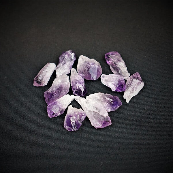 Amethyst Gridding Natural Point - 100 grams in an organza pouch - Heavenly Crystals Online