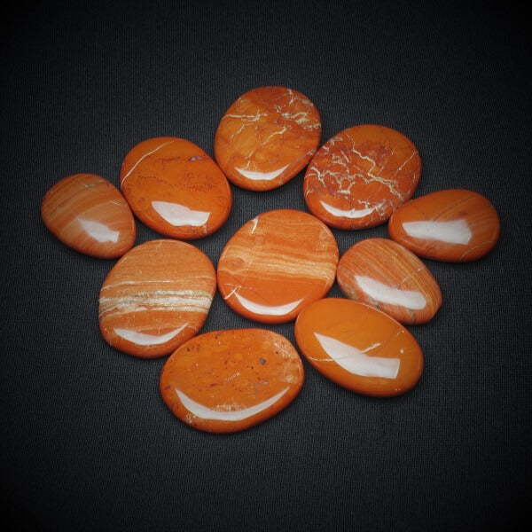 Red Jasper Worry Stone - Heavenly Crystals Online