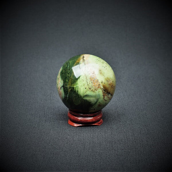 Chrysoprase Sphere - 137 grams - Heavenly Crystals Online