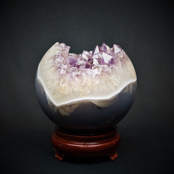 Amethyst Druzy Sphere - 2.365 kgs - Heavenly Crystals Online