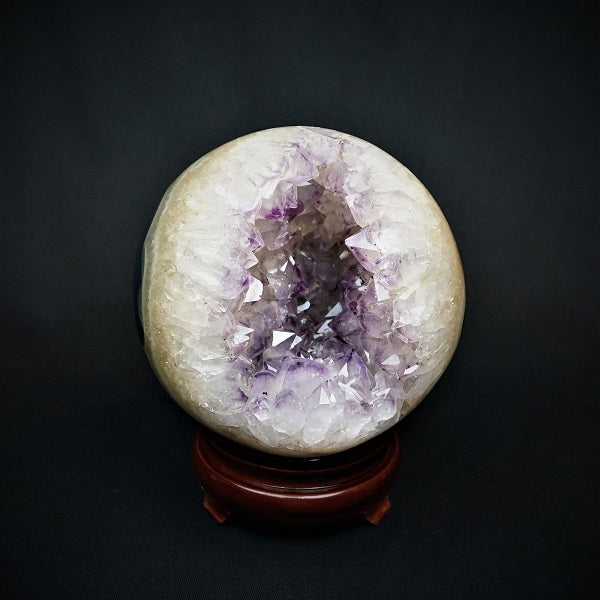 Amethyst Druzy Sphere - 2.789 kgs - Heavenly Crystals Online