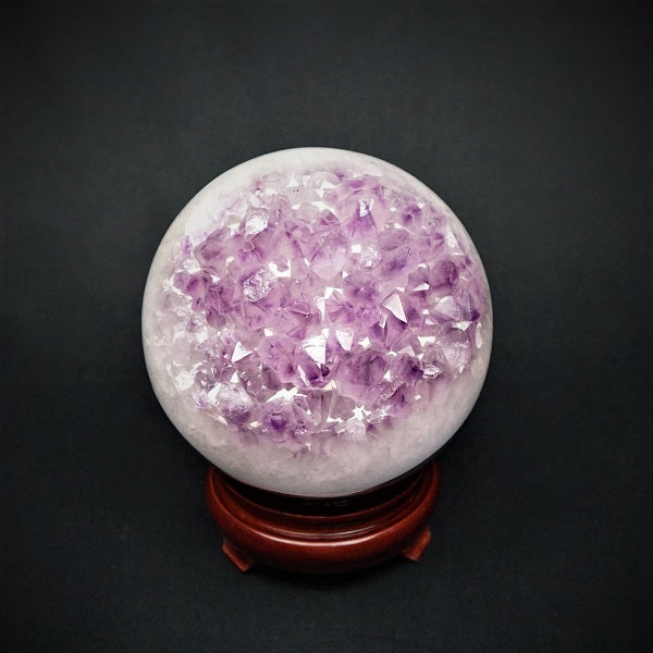 Amethyst Druzy Sphere - 2.599 kgs - Heavenly Crystals Online