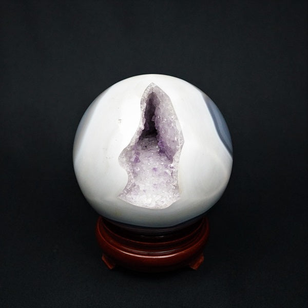 Amethyst Druzy Sphere - 2.076 kgs - Heavenly Crystals Online