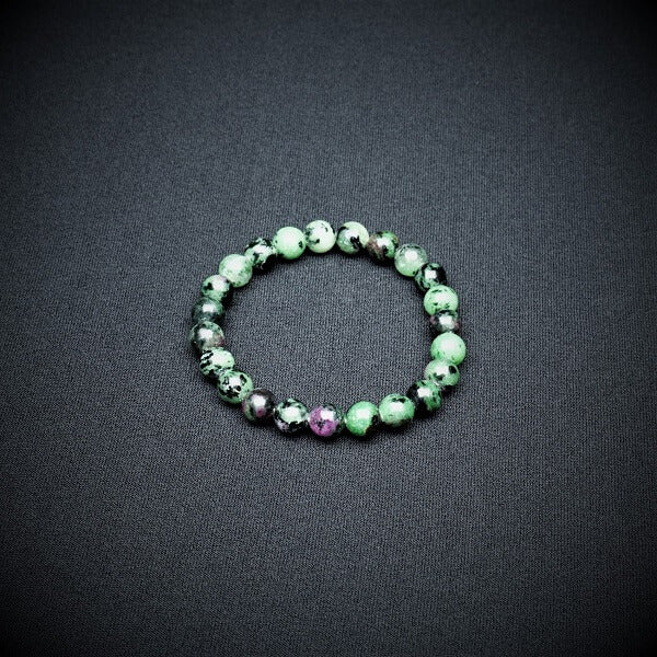 Ruby Zoisite Bracelets - 8 mm - Heavenly Crystals Online