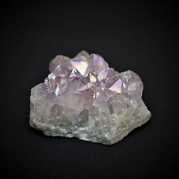 Amethyst Rainbow Aura Cluster - heavenly-crystals-online