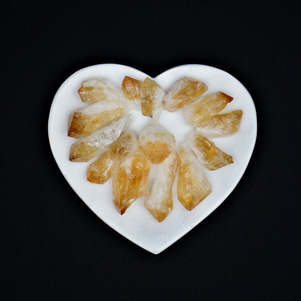 Citrine Natural Point - Individually sold - Heavenly Crystals Online