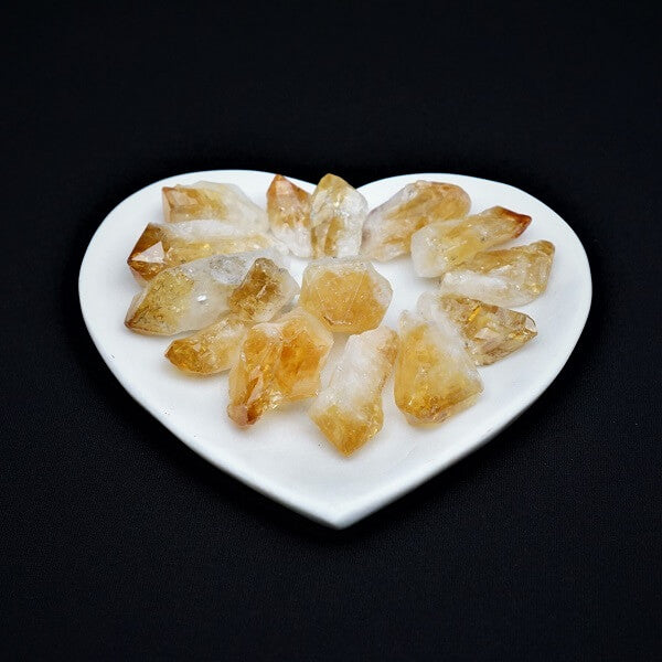 Citrine Gridding Natural Point - 100 grams - heavenly-crystals-online