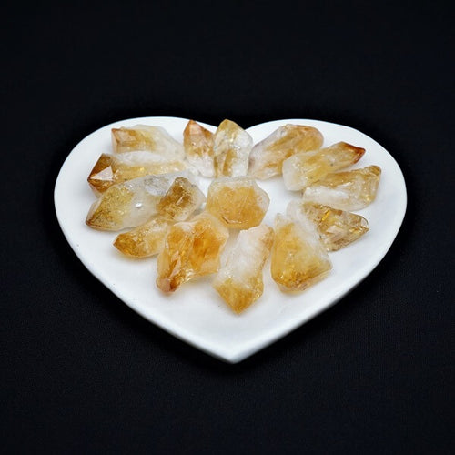 Citrine Gridding Point - 100 grams in an organza pouch - Heavenly Crystals Online