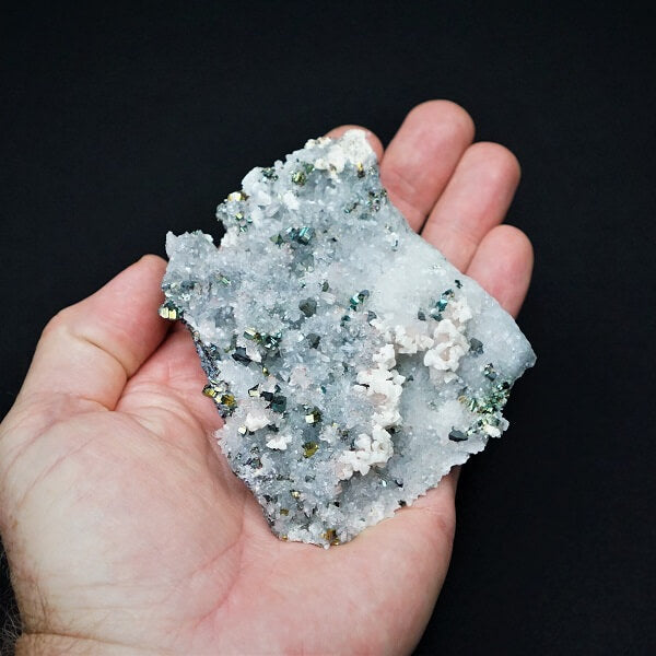 Pyrite on Quartz Cluster - 319 grams - Heavenly Crystals Online