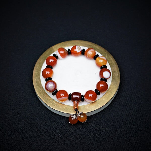Agate Healing Bracelet - 12mm - Heavenly Crystals Online