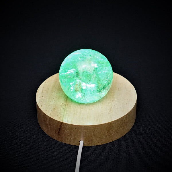 Wooden Base, LED Color Light Stand for Crystal - 159 grams - Heavenly Crystals Online