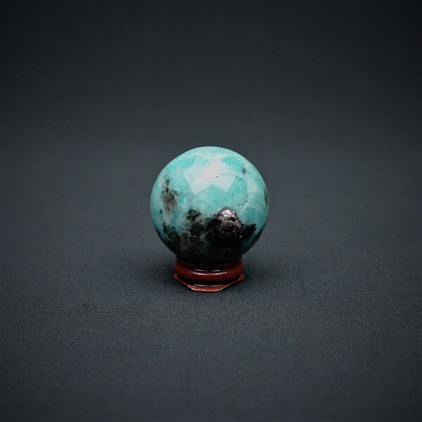 Amazonite with Hematite Sphere - 57 grams - Heavenly Crystals Online
