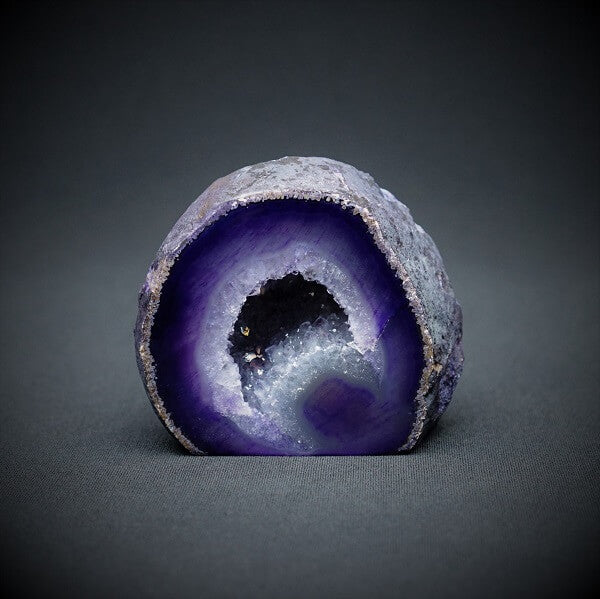 Purple Agate Cave - 473 grams - Heavenly Crystals Online