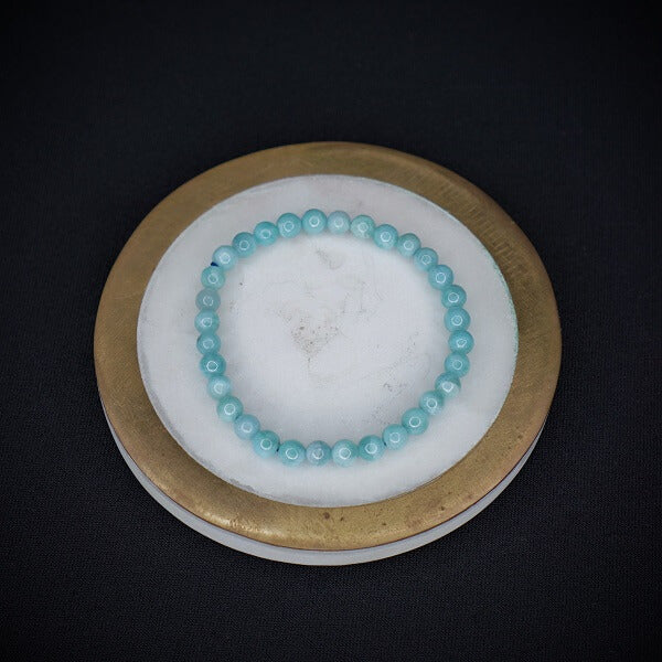 Larimar Bracelet - 5mm - Heavenly Crystals Online