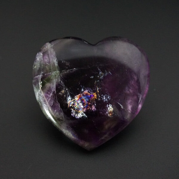 Fluorite Heart Q1A - 28 grams - Heavenly Crystals Online
