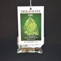 Moldavite Oil includes a piece of Moldavite - Heavenly Crystals Online