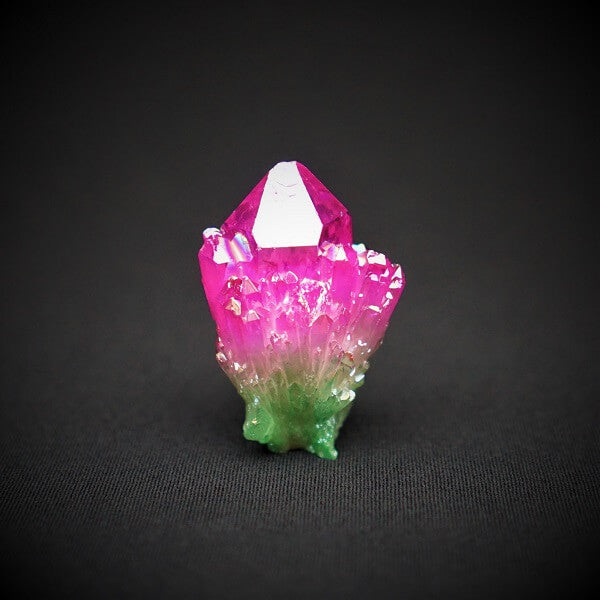 Watermelon Aura Quartz Cluster - 82 grams - Heavenly Crystals Online