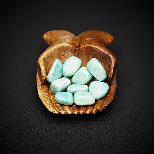 Amazonite Tumbled Stone AAA Grade - Heavenly Crystals Online
