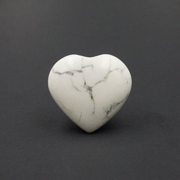 White Howlite Heart - 48 grams - Heavenly Crystals Online