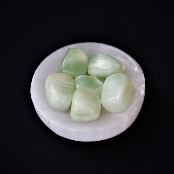 New Green Jade Tumbled Stones - heavenly-crystals-online