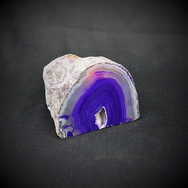 Purple Agate Cave Candle Holder include tealight candle - 850 grams - Heavenly Crystals Online