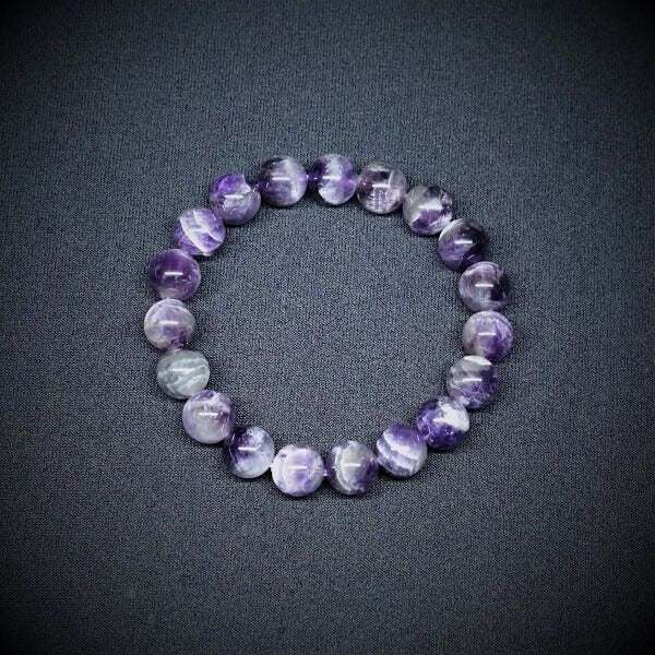 Chevron Amethyst Bracelet - 10mm - Heavenly Crystals Online