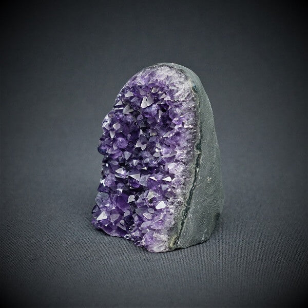 Amethyst Standing Polished Cluster - 430 grams - Heavenly Crystals Online