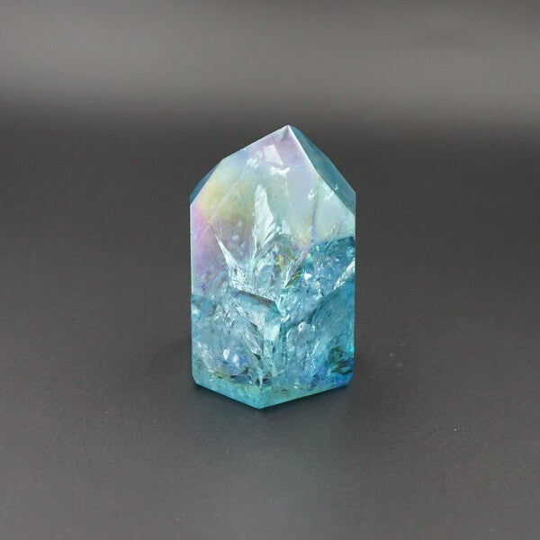 Aqua Aura Quartz Channeler Genuine - 96 grams - Heavenly Crystals Online