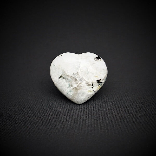 Rainbow Moonstone Heart - 140 grams