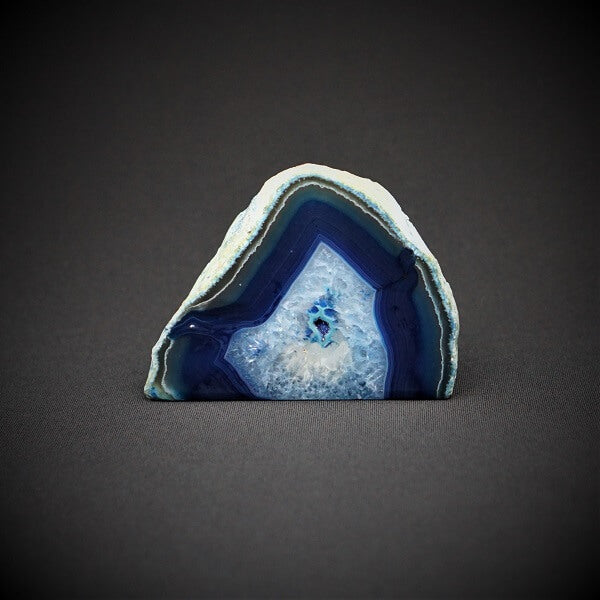 Blue Agate Candle Holder include tealight candle - 700 grams - Heavenly Crystals Online