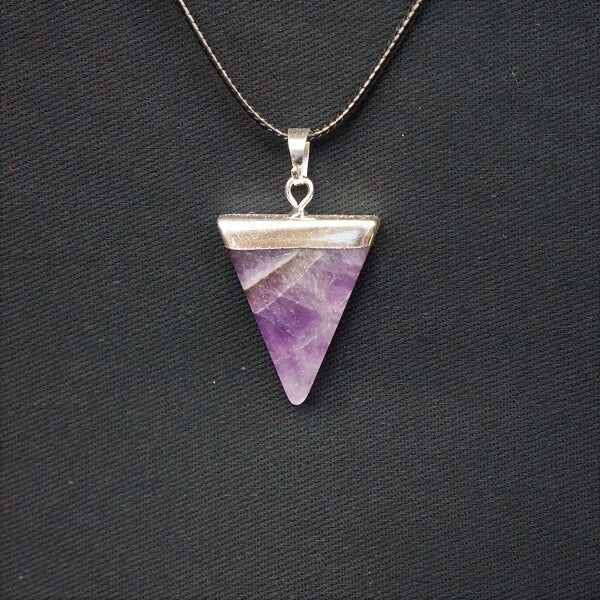 Amethyst Triangle Pendant - Heavenly Crystals Online