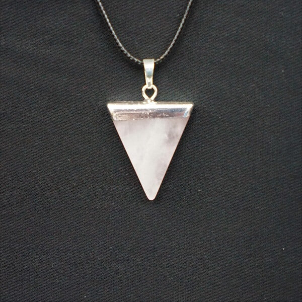 Rose Quartz Triangle Pendant - Heavenly Crystals Online