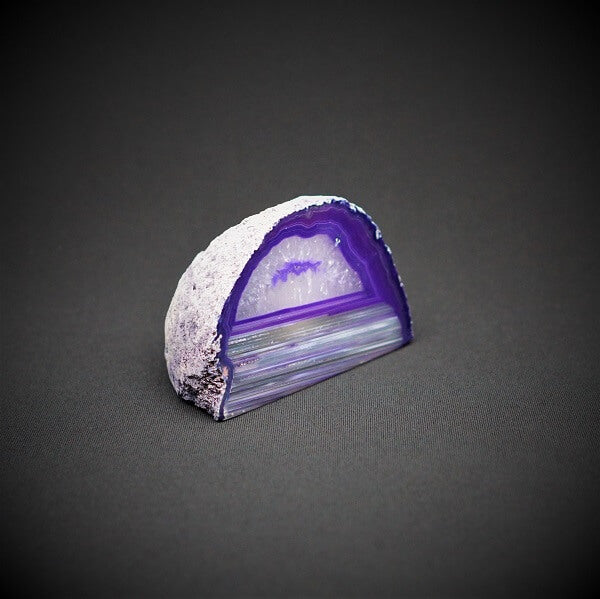 Purple Agate Cave Candle Holder include tealight candle - 650 grams - Heavenly Crystals Online