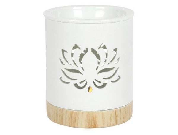 Lotus Oil Burner with tealight in Gift Box - Heavenly Crystals Online