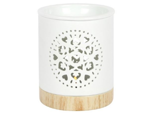 Mandala Oil Burner with tealight in Gift Box - Heavenly Crystals Online
