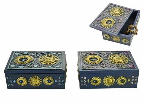 Tarot Goddess of the Moon and Star Box - Blue - Heavenly Crystals Online