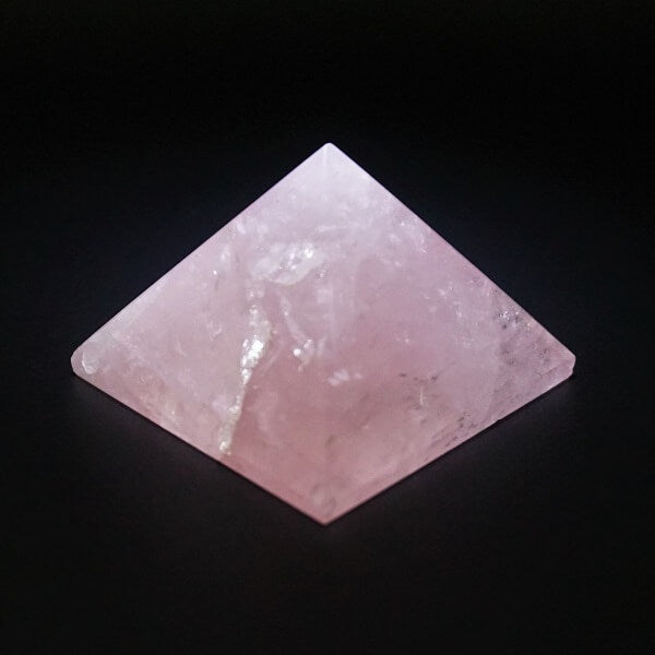 Rose Quartz Pyramid Q1A - 105 grams - Heavenly Crystals Online