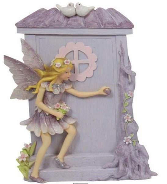 Purple Fairy with Fairy Door - Heavenly Crystals Online