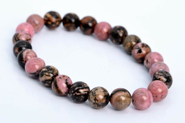 Rhodonite Bracelet - 8mm - Heavenly Crystals Online