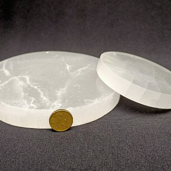 Selenite Charging Plate - 270+ grams - Heavenly Crystals Online