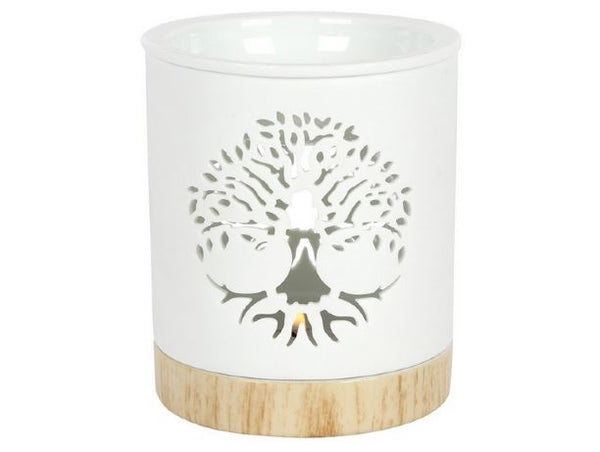 Tree of Life Oil Burner with tealight in Gift Box - Heavenly Crystals Online
