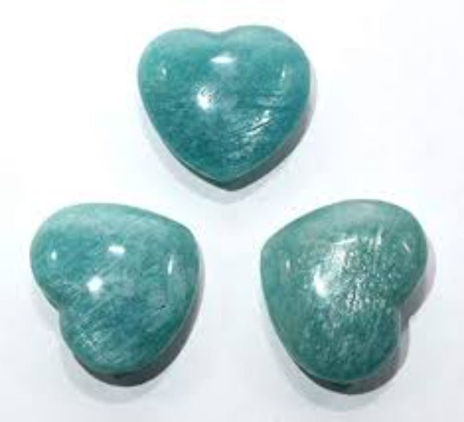Amazonite Hearts - Small - Heavenly Crystals Online