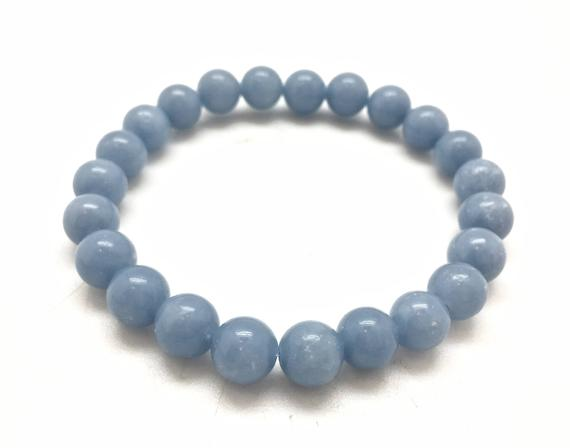 Angelite Bracelet - 8mm - Heavenly Crystals Online