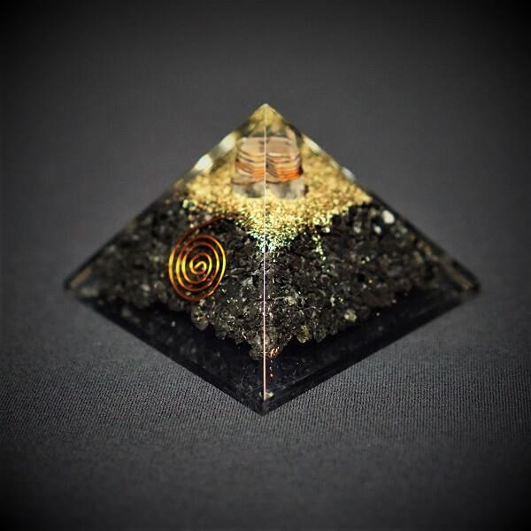 Black Tourmaline With Clear Quartz Orgonite Crystal Pyramid - 170 grams - Heavenly Crystals Online