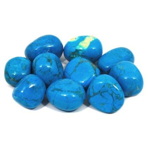 Blue Howlite Tumbled Stone - AAA Graded - Heavenly Crystals Online