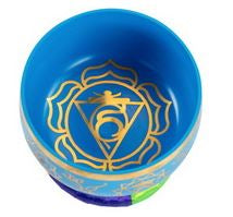 Blue Brass Singing Tibetan Bowl includes Striker and Cushion - Throat Chakra - Communication - Heavenly Crystals Online