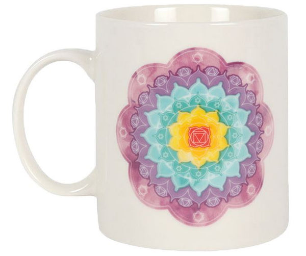 Chakra Mandala Ceramic Mug in Gift Box - Heavenly Crystals Online