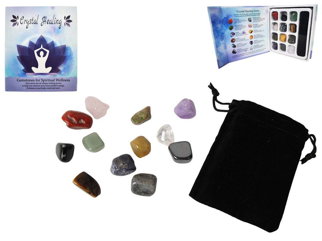 Crystal Gems Gift Pack of 12 - Heavenly Crystals Online