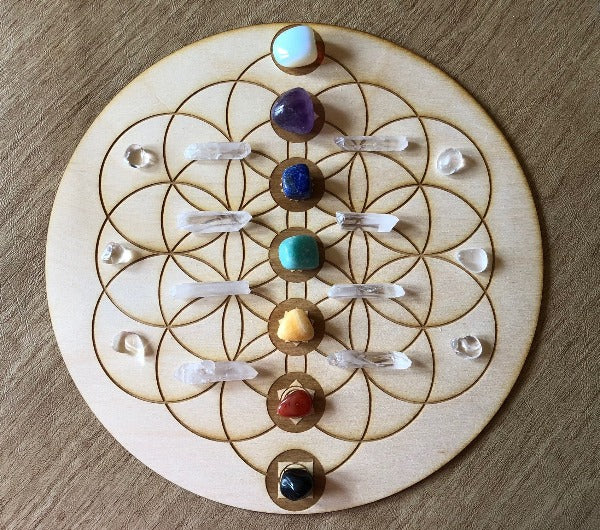 Flower of Life Chakra Crystal Grid - Heavenly Crystals Online